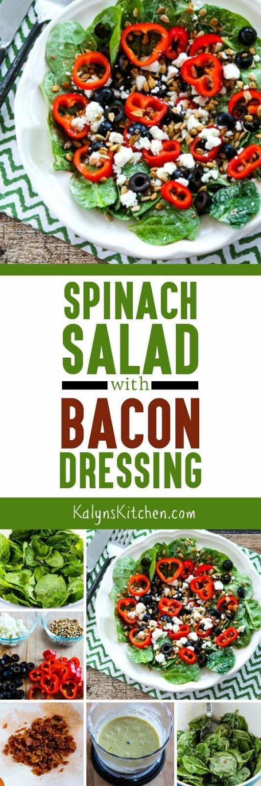 Recipe for Spinach Salad with Bacon Dressing (Low-Carb, Gluten-Free)