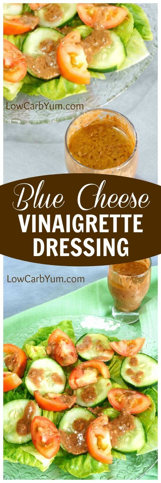 This low carb blue cheese vinaigrette dressing is sure to please. Adds an extra special touch to a plain low carb salad. Made with balsamic vinegar.
