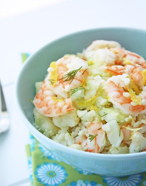Shrimp & Cauliflower Salad – Low Carb and Gluten Free