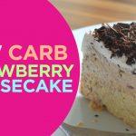 Sugar Free Strawberry-cheesecake