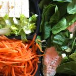Salmon Filets with Baby spinach & Carrot Zoodles