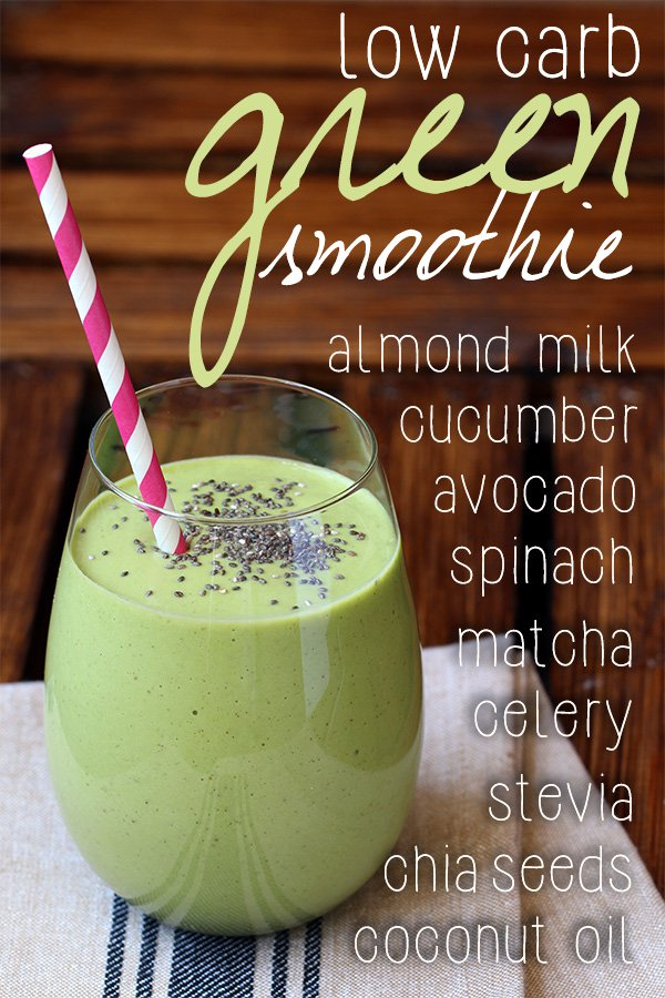Green Low Carb Breakfast Smoothie