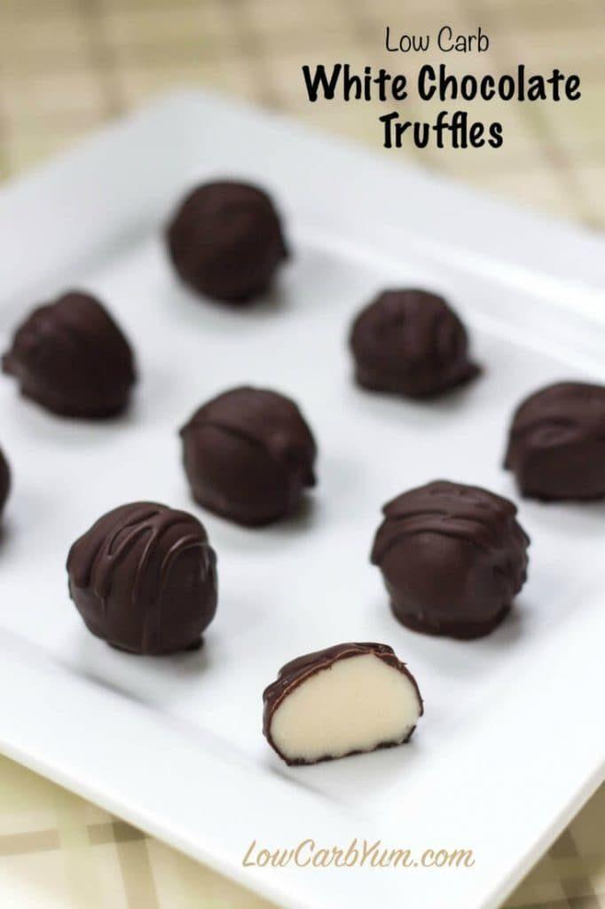 WHITE CHOCOLATE TRUFFLES (LOW-CARB, SUGAR-FREE)