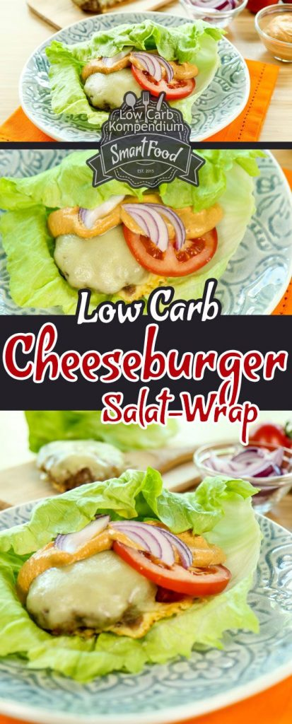 Low-Carb Cheeseburger Salat-Wrap - Der Cheeseburger ohne Brötchen