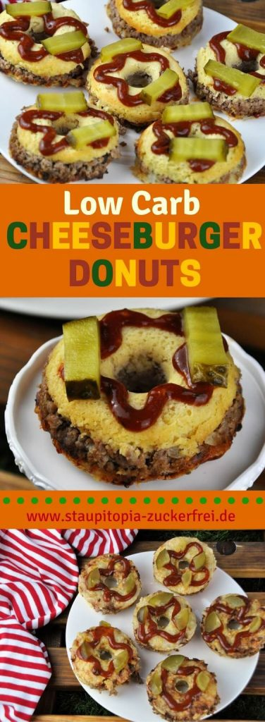 Low Carb Cheeseburger Donuts