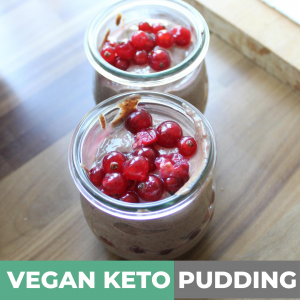 YUMMY! Vegan keto chocolate Pudding
